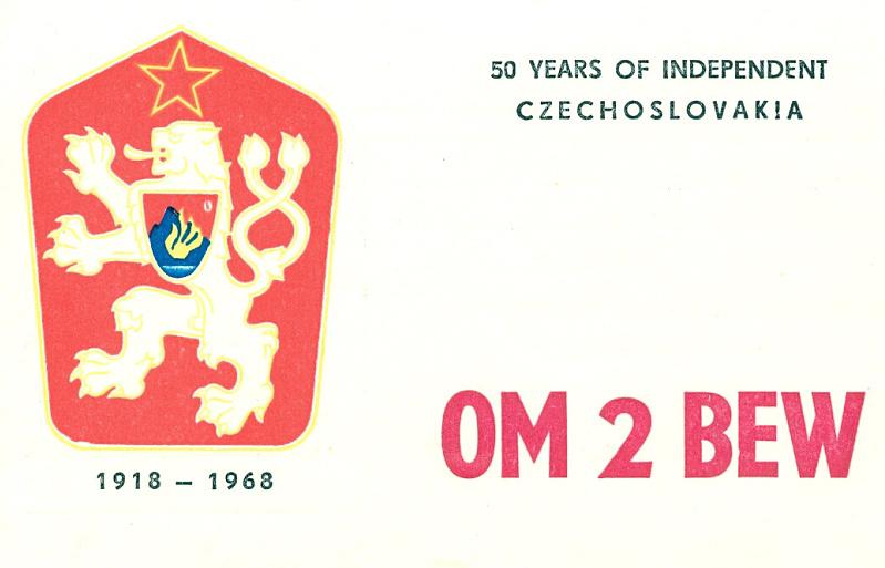 OM2BEW special QSL (front)