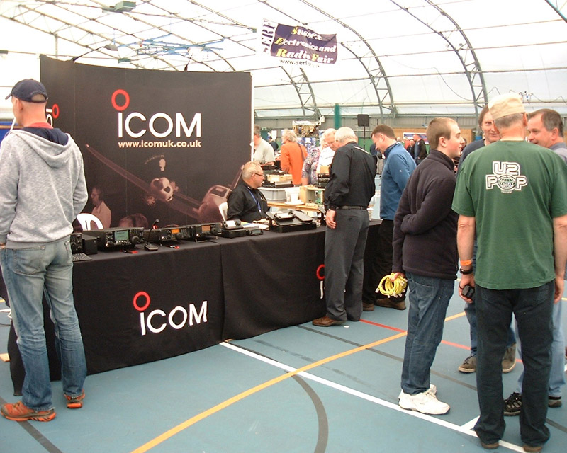 icom at SERF, a great stand and plenty of new and highly desirable rigs being demonstrated.