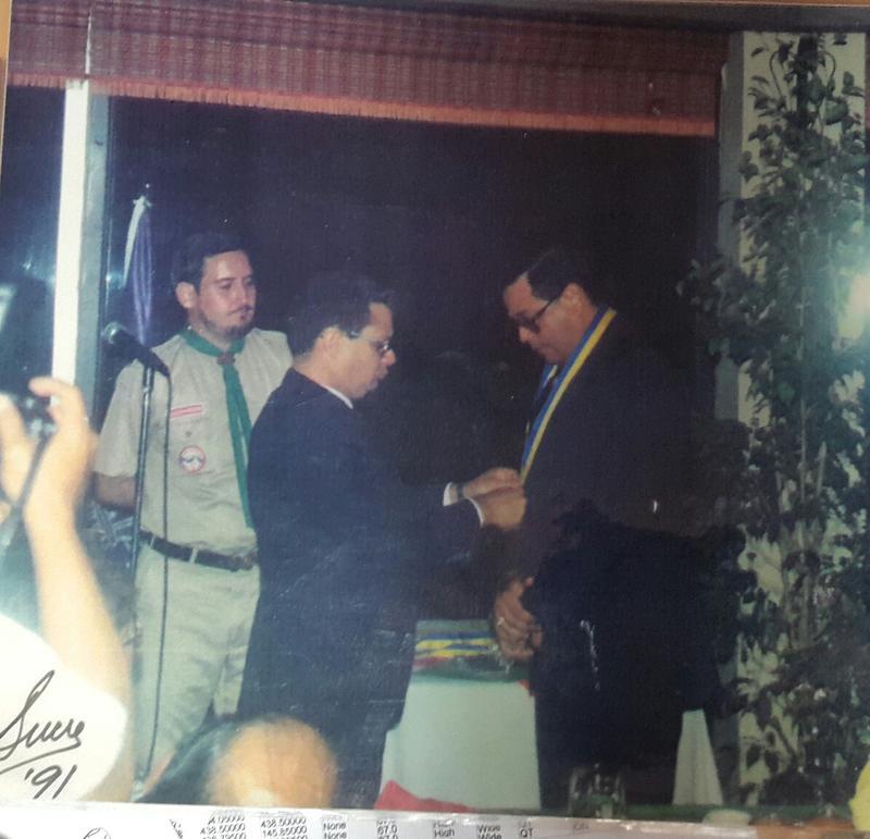 Lic. Edilberto Esquivel Jr. Presidente del Comité de Honor - Lic. Ariel Sucre E. Jefe Scout Nacional