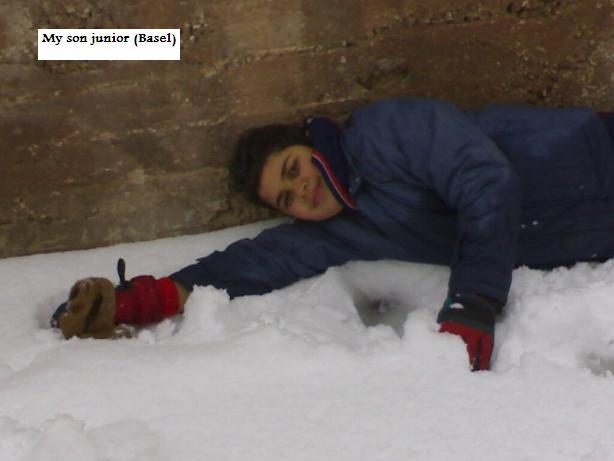 Basel(Junior Son) swminig on Snow