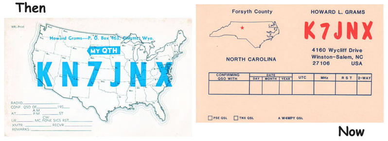 Then and Now QSL images