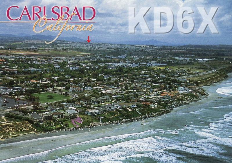 KD6X QSL card