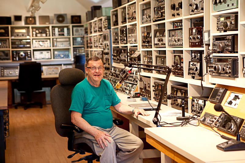 George W9EVT at his WI9DX Station