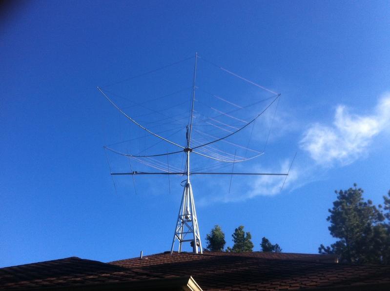 My new K4KIO Hexbeam and M2 6 Meter beam.