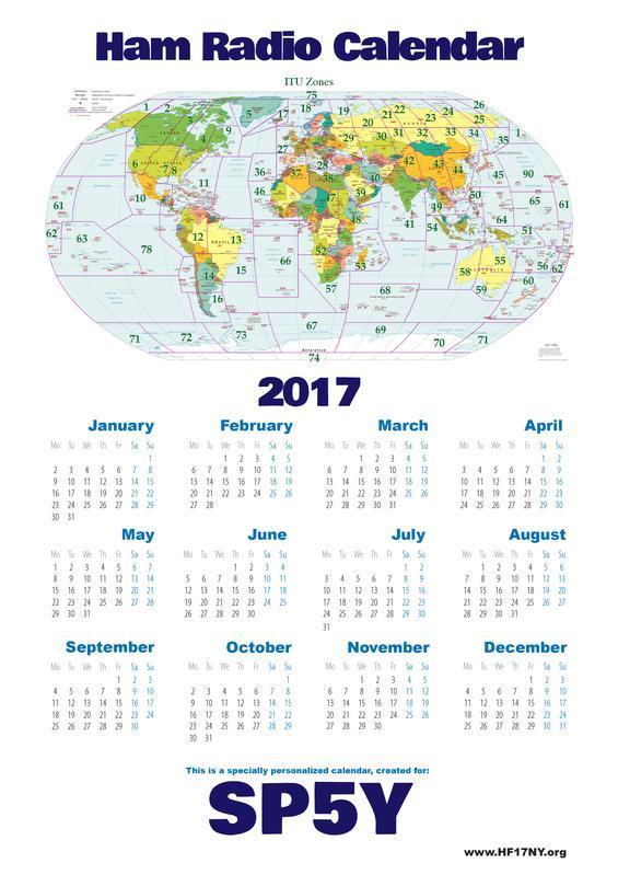 Amateur radio special event calendar