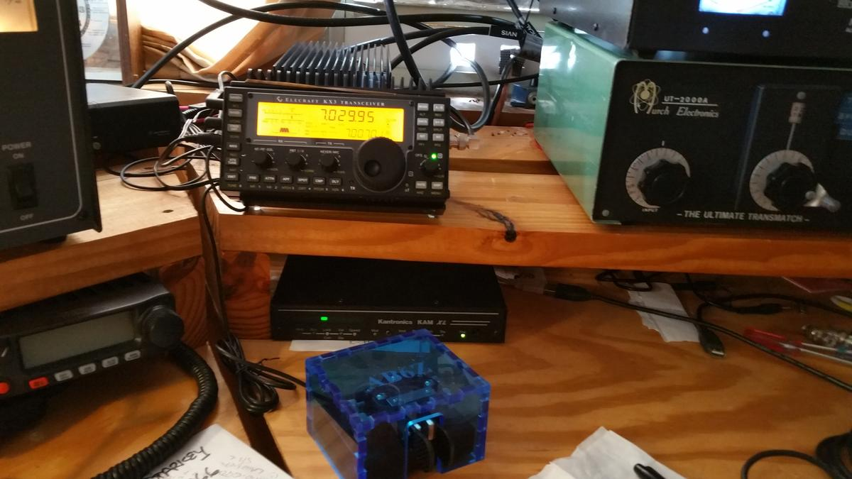 KX3/KPA100 and ZN-9 paddle  Gifts4Hams Blue Dust Cover