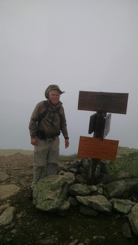 W1/HA-002 Mt Lafayette, NH 7-23-2015 WIND GUSTS TO 45MPH FOGGY AND MISTY AT OVER 5200 FEET