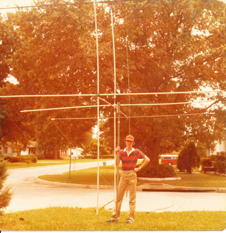 Ed Kranek holding my Cubical Quad for 11 meters
