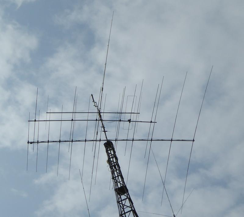 Current Stack. Acom Log Periodic for 10-20m, 6el OWA Yagi for 10m, 6 element LFA for 6m and shortened dipole for 40m
