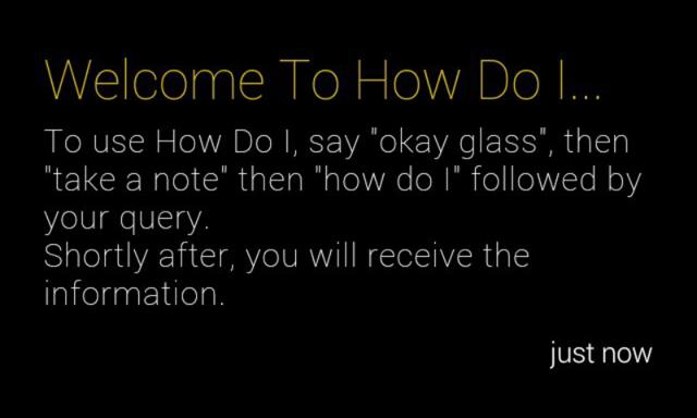 Google Glass How Do I Instructions