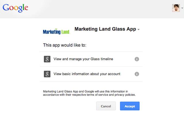 Glass  App Marketing Land - Authorize