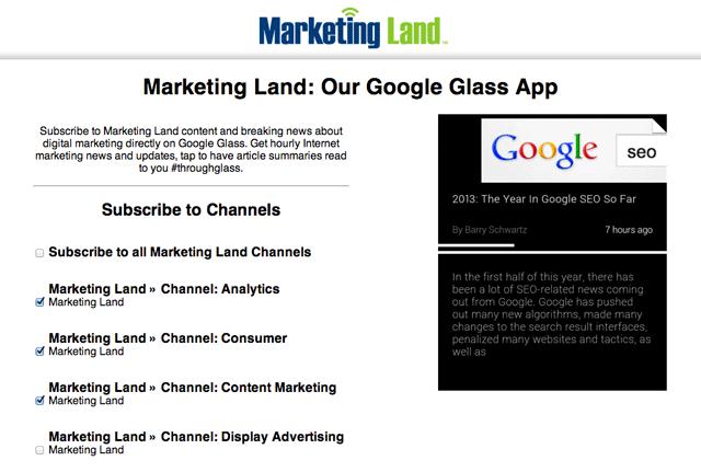 Glass  App Marketing Land - Channels
