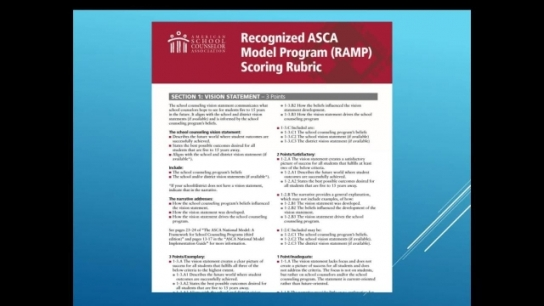 ASCA National Model Portal Overview