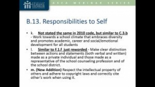 2016 ASCA Ethical Standards for School Counselors