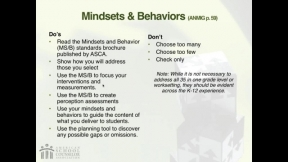 RAMP Scoring Rubric Webinar: Section 4 - ASCA Mindsets & Behaviors for Student Success