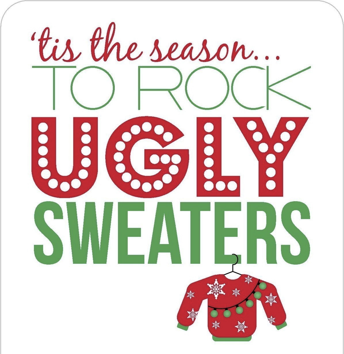 Image result for Ugly Christmas sweater clipart