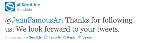 Twitter auto-welcome via public tweet