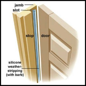 weather stripping which can be inserted directly into your door jamb