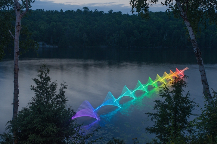 Light Paintings Patterns in Water Photographer Stephen Orlando