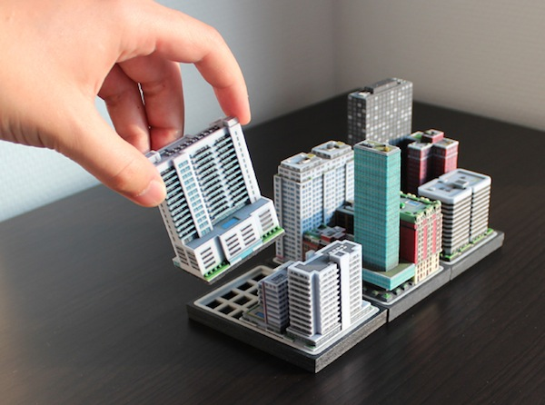 Miniature 3D-Printed Cities