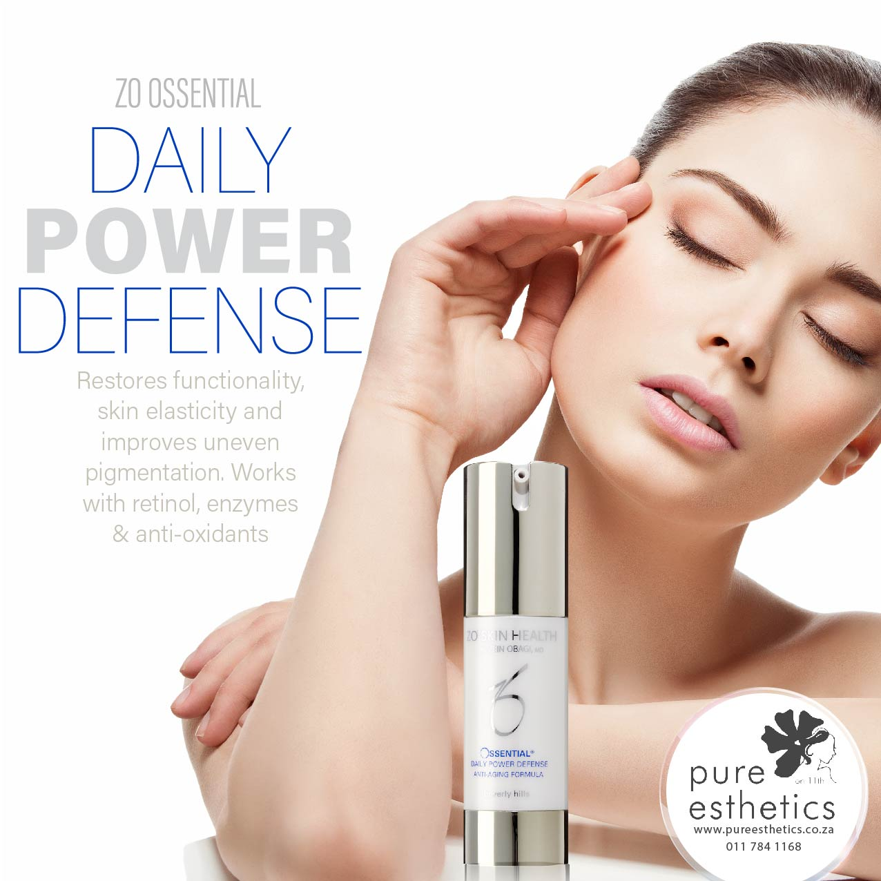 ZO OSSENTIAL DAILY POWER DEFENSE Restores functionality