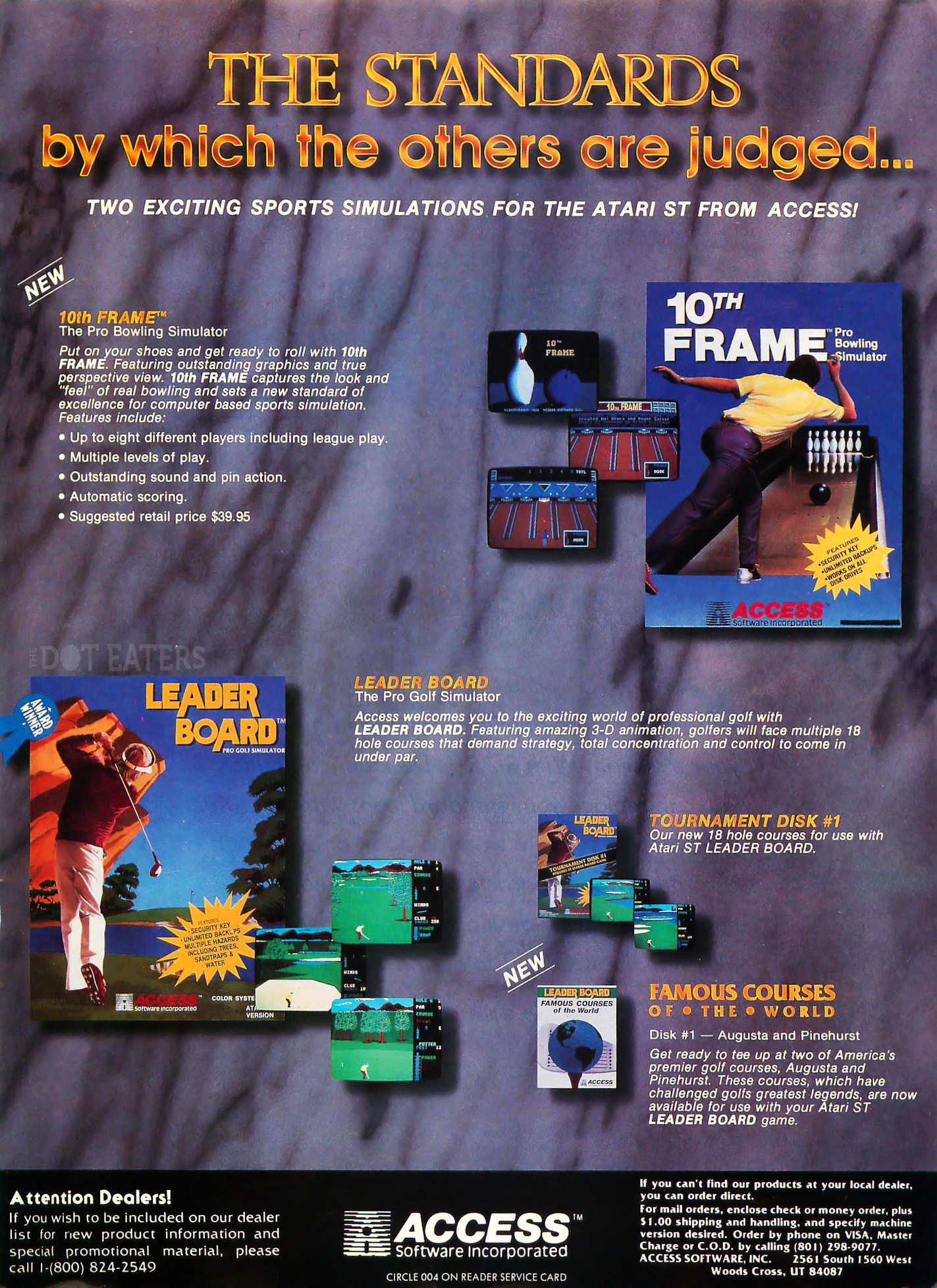 Access sets the standard for sports games (1987). masters