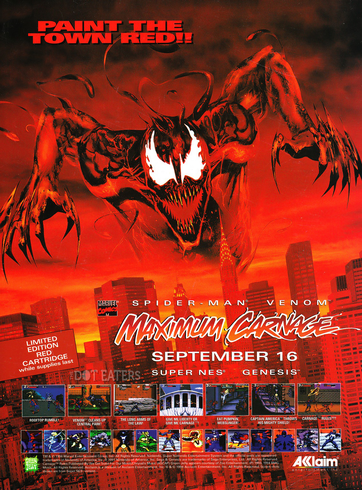 Get ready for Maximum Carnage on SNES and Genesis (1994