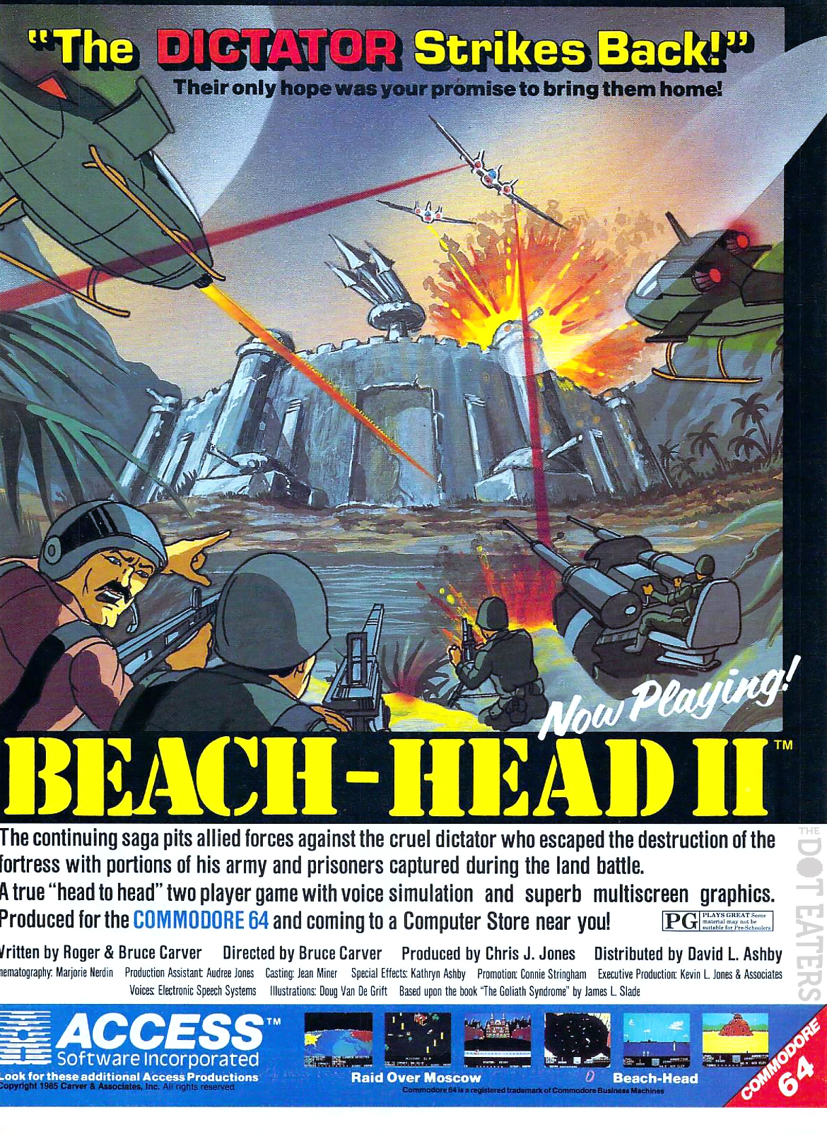 Let's go back to the Beach (1985). retrogaming bitstory