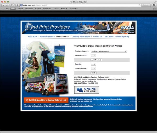 SGIA Find Print Providers
