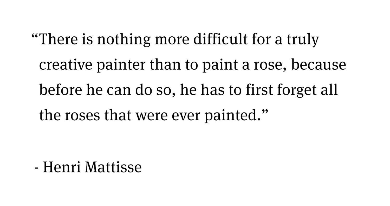 Quote Matisse