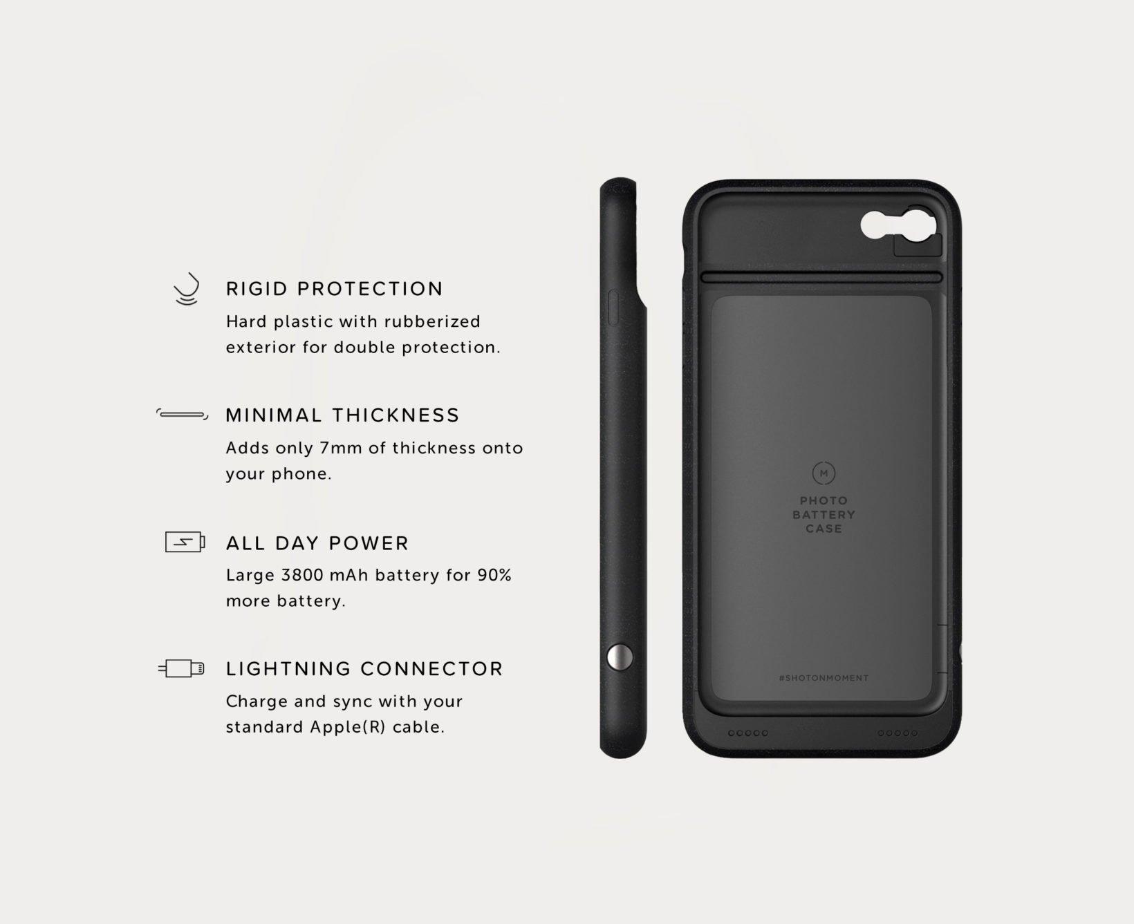 save off 3827a ec0dc Moment - iPhone Battery Photo Case