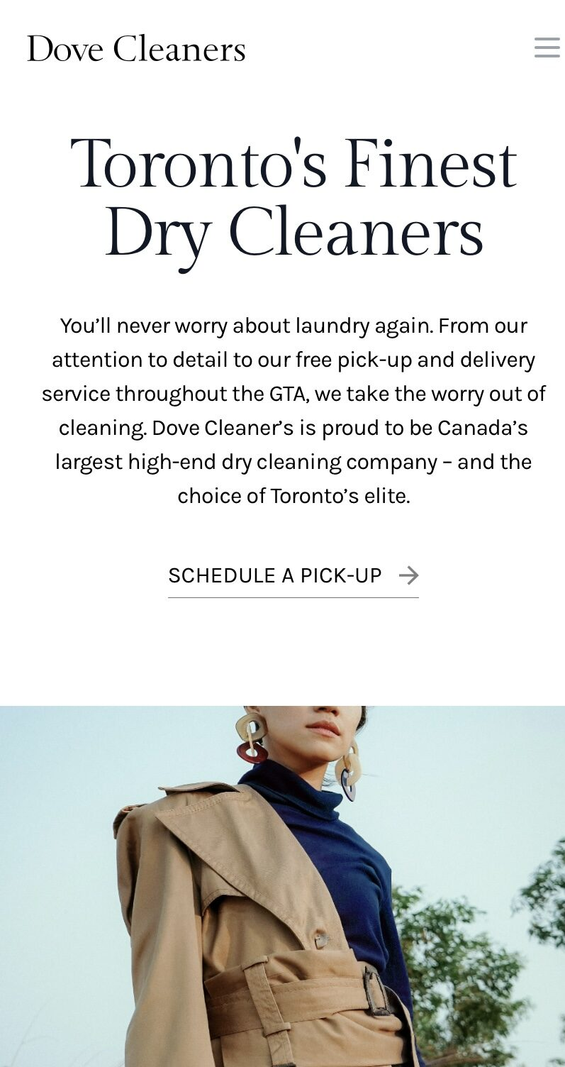 DOVE CLEANERS LAUNCHES NEW-AND-IMPROVED WEBSITE