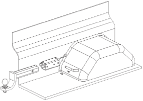 Illustration of parts for horizontal installation