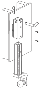 Illustration of parts for vertical installation