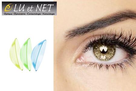 302c68a906565c Sublimez votre regard avec 3 paires de lentilles mensuelles Clear 55A ou 1  paire de lentilles de couleur trimestrielle Impression + 1 produit  nettoyant Dua, ...