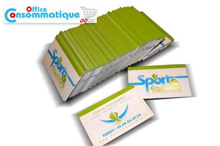 Faites Une Super Impression Dans Votre Business Avec 1000 Cartes De Visite Plastifiee Brillant A 289 DH Au Lieu 800 Chez Consommatique Office