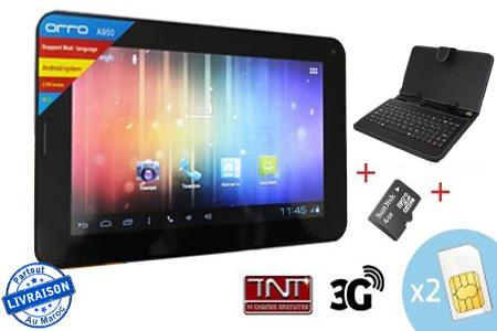 gardez le contact librement avec une tablette t l phone orro a980 7 double carte sim 3g wifi. Black Bedroom Furniture Sets. Home Design Ideas