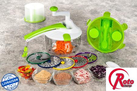 Facilitez vous la t che en cuisine et profitez de ce robot polyvalent roto champ pour trancher - Appareil pour couper en julienne ...