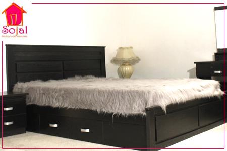 Design et confort avec chambre coucher compl te for Chambre a coucher complete avec matelas et sommier