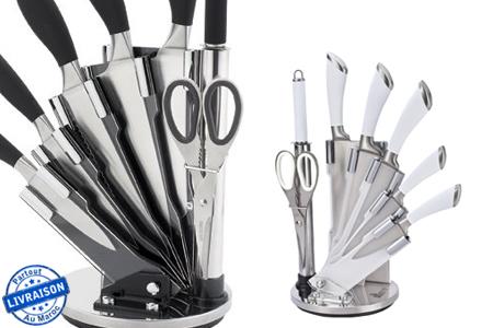 Cuisinez comme un chef gr ce ce set de couteaux 8 pi ces royalty line avec support au choix - France 2 cuisinez comme un chef ...