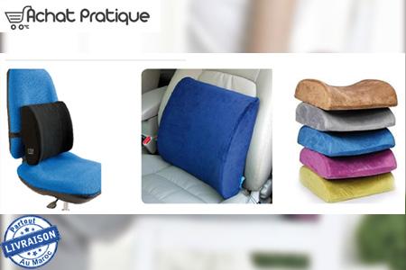 pour vos longues journ es au travail optez pour un coussin lombaire m moire pour chaise ou. Black Bedroom Furniture Sets. Home Design Ideas