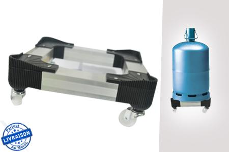 facilitez le transport de votre bouteille de gaz avec cette table roulettes en aluminium. Black Bedroom Furniture Sets. Home Design Ideas