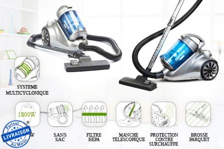 un int rieur d 39 une propret irr prochable avec cet aspirateur sans sac de la marque ngs boreax. Black Bedroom Furniture Sets. Home Design Ideas