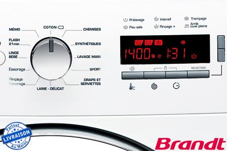 silencieuse et performante pour un lavage impeccable avec cette machine laver brandt r f. Black Bedroom Furniture Sets. Home Design Ideas
