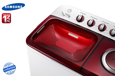 performance pour un lavage impeccable avec ce lave linge samsung 10 kg semi automatique 2. Black Bedroom Furniture Sets. Home Design Ideas