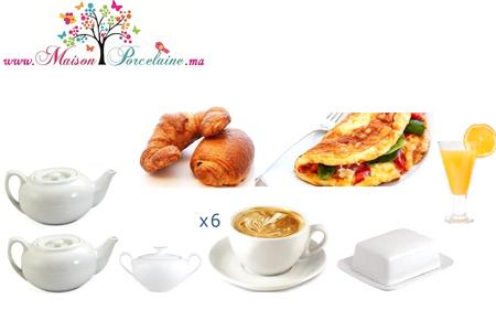 Pour d marrer votre journ e dans la joie et la bonne for Set petit dejeuner porcelaine