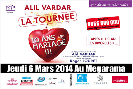 le meilleur du thtre parisien revient pour 2h de fou rire avec ce ticket cat1 pour la pice thtrale 10 ans de mariage seulement 420 dh au lieu de - Dix Ans De Mariage Thatre