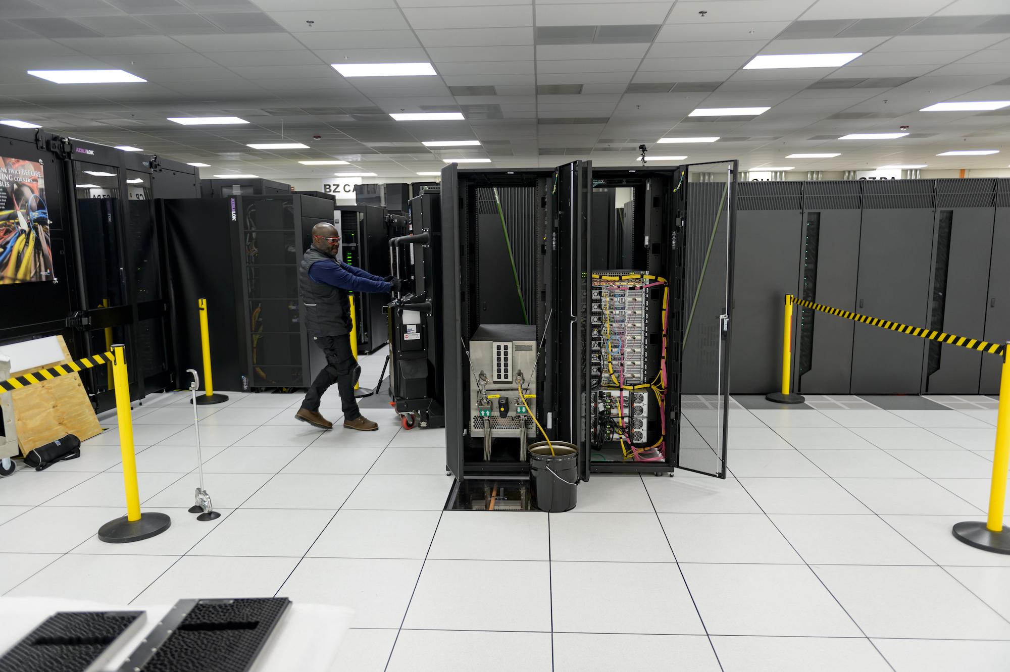 La computadora Cerebras que se está instalando en Argonne.
