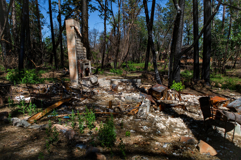 Las chimeneas fueron una de las pocas cosas que quedaron en pie en muchas propiedades en todo el Paraíso después del Camp Fire.