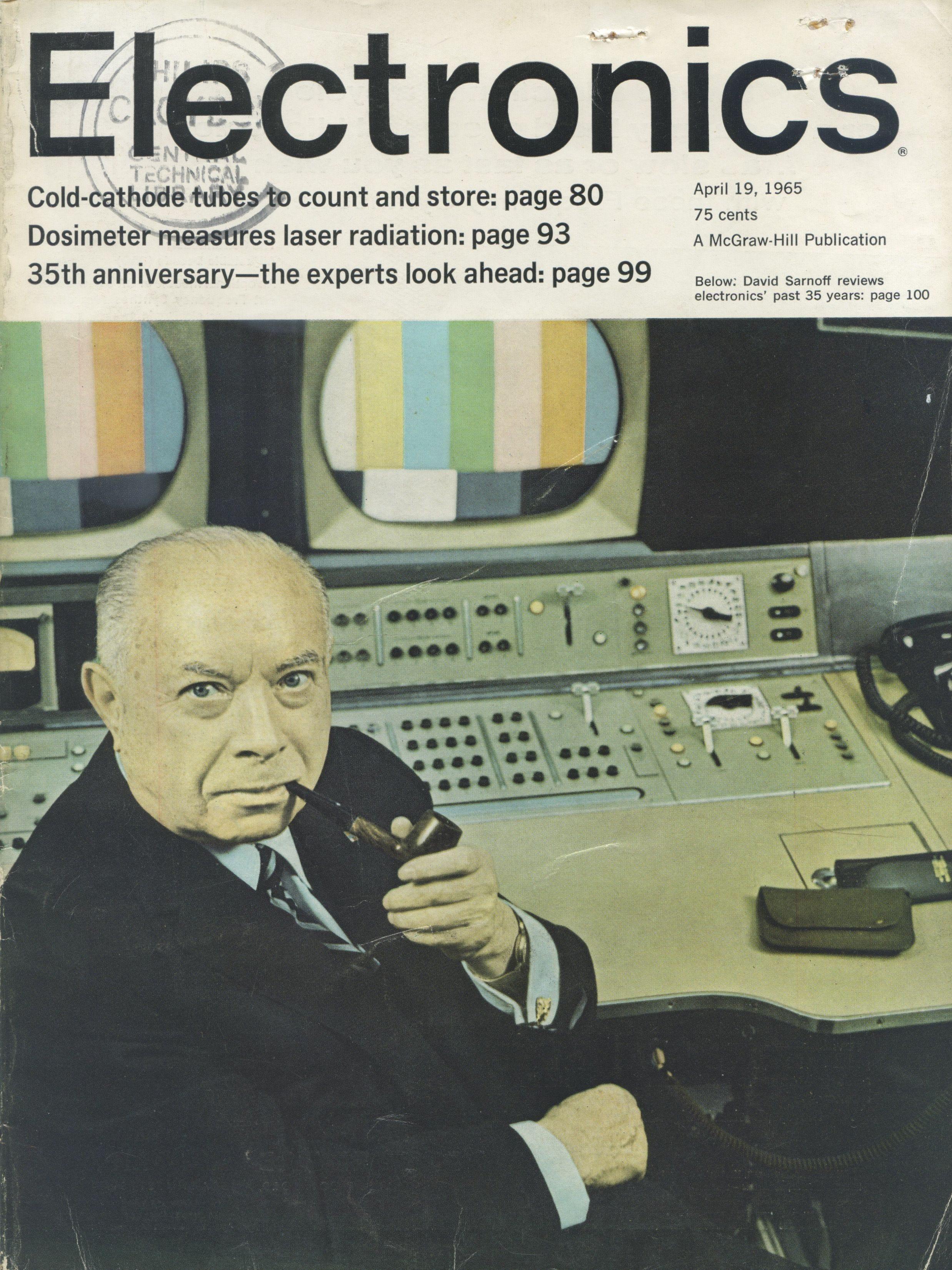 La revista electrónica de abril de 1965 en la que Moore